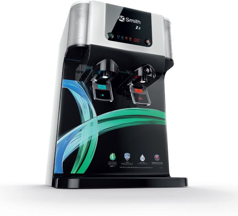 AO Smith Z8 10 L RO Water Purifier(Black)