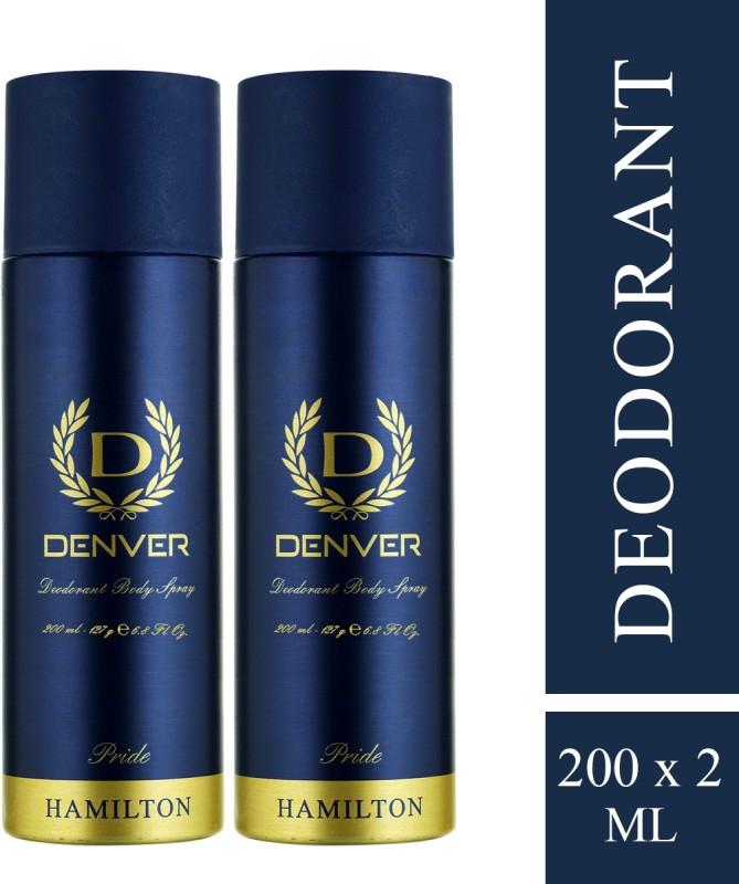Denver Pride Combo body spray Deodorant Spray - For Men(400 ml, Pack of 2)