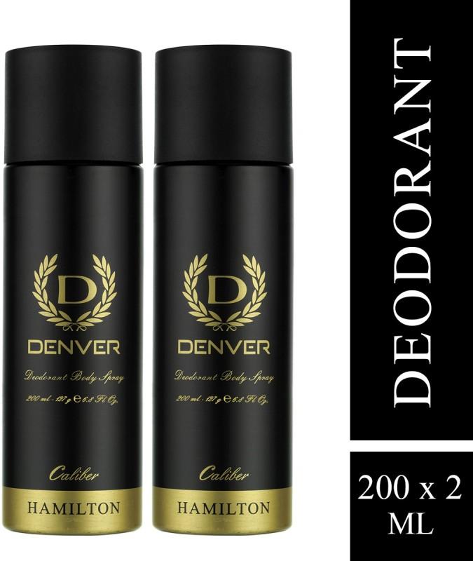 Denver Caliber Combo Deodorant Spray - For Men(400 ml, Pack of 2)