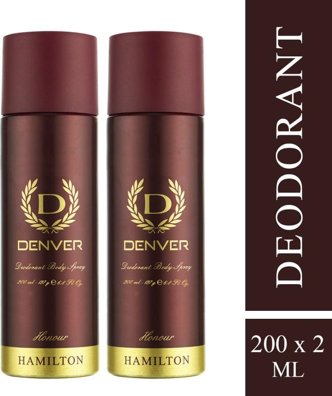 Denver Honour Combo Body spray Deodorant Spray - For Men(400 ml, Pack of 2)