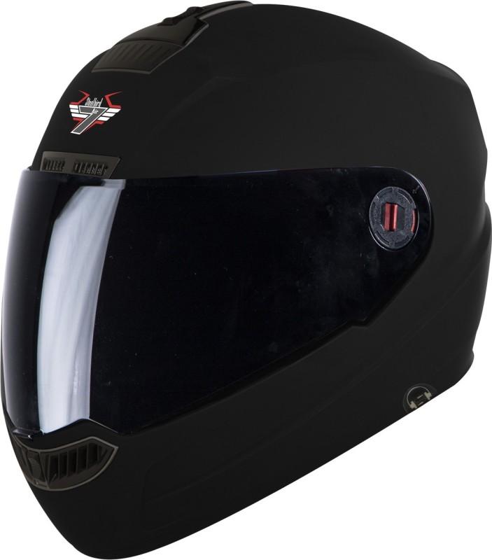 Steelbird SBA-1 HF Painted with somke visor Motorbike Helmet(Matt Black)