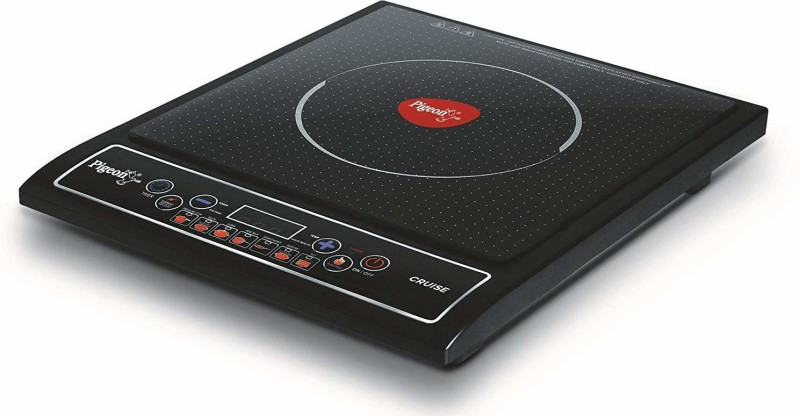 Pigeon Rapido Cute Induction Induction Cooktop(Black, Push Button)