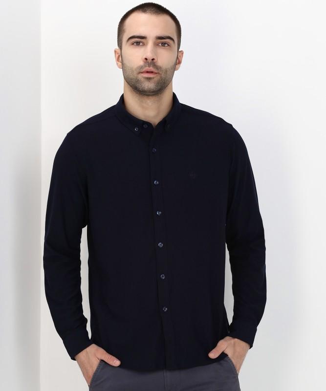 Arrow Sport Men Solid Casual Black Shirt