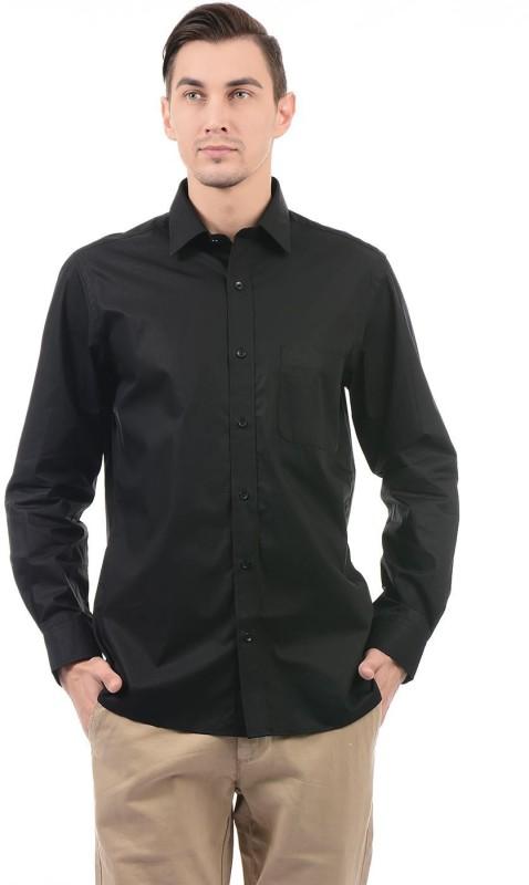 Arrow Men Solid Casual Black Shirt