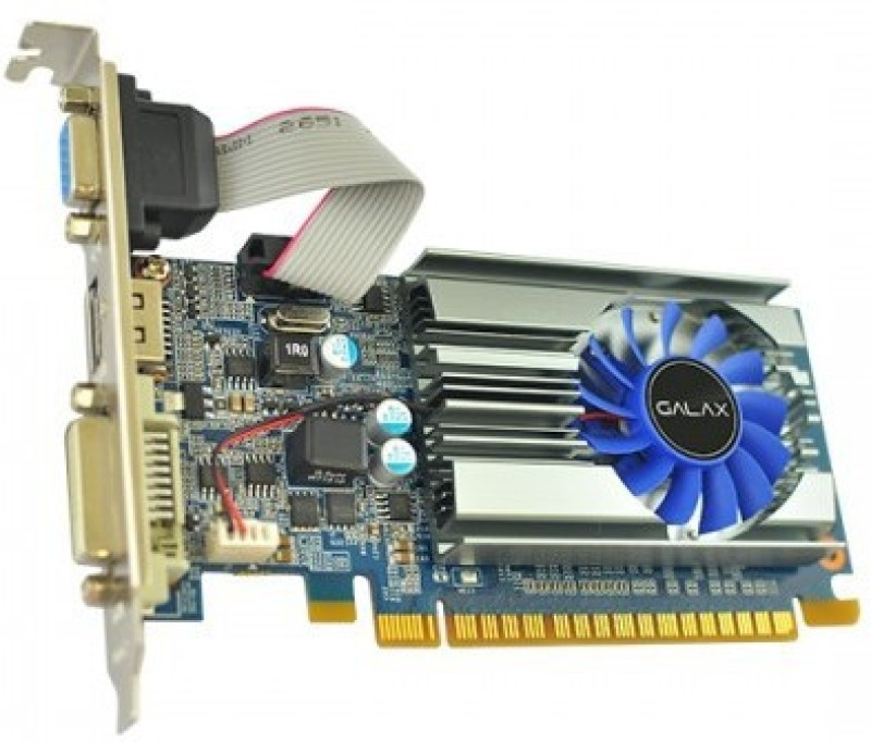 Electrobot NVIDIA GALAX GEFORCE GT 710 1GB 1 GB GDDR3 Graphics Card(Black)