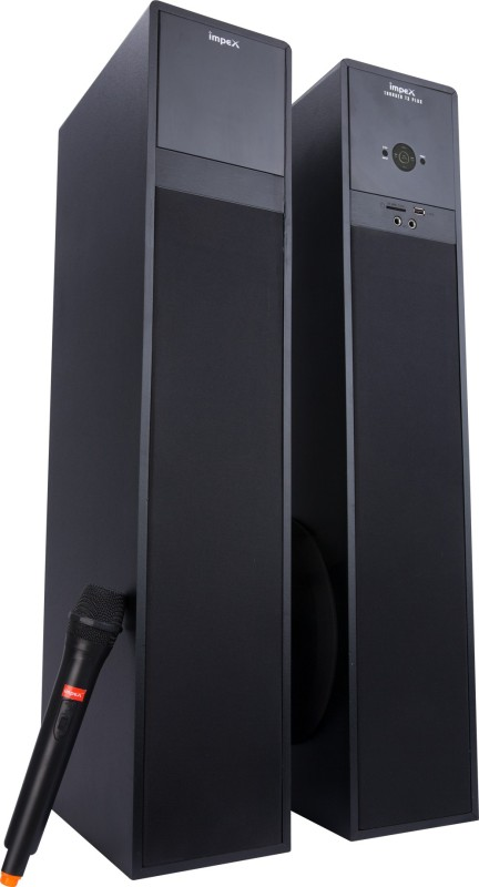 Impex Thunder T3 Plus 100 W RMS Wireless Mic Tower Speaker With 100 W Bluetooth Home Theatre(Black, 2.1 Channel)