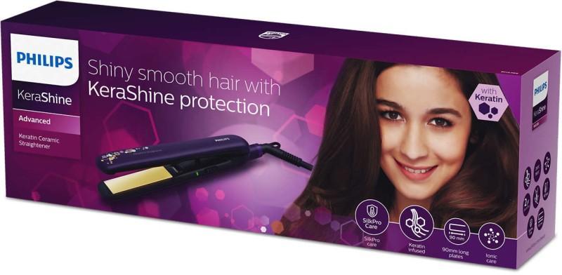 Philips 386 Kerashine, Shiny and Smooth Hair Straightener Hair Straightener(Purple)