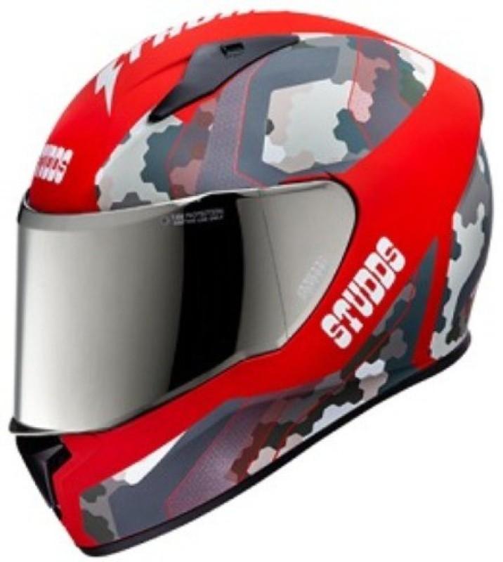 Studds Thunder D5-N2 Decor Motorbike Helmet(D5 Matt Red N2 Red)