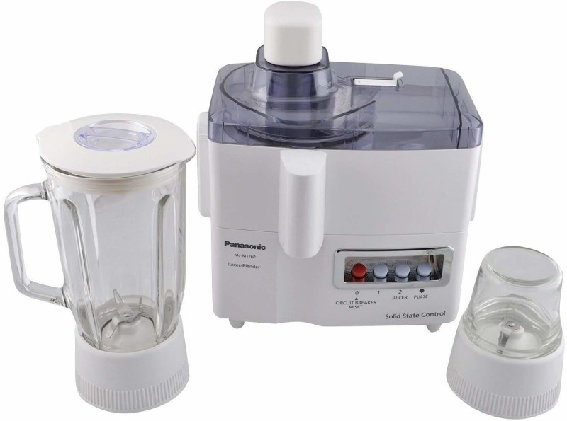 Panasonic 3 PA-MJ-M 176P 230 Juicer Mixer Grinder(White, 3 Jars)