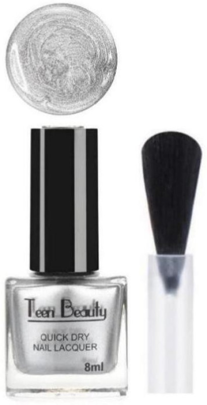 Teen Beauty Silver Diamond Nail Polish Silver
