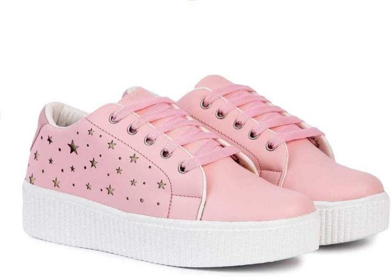 JIANSH Girls Casual Partywear Sneakers For Women Sneakers For Women(Pink)