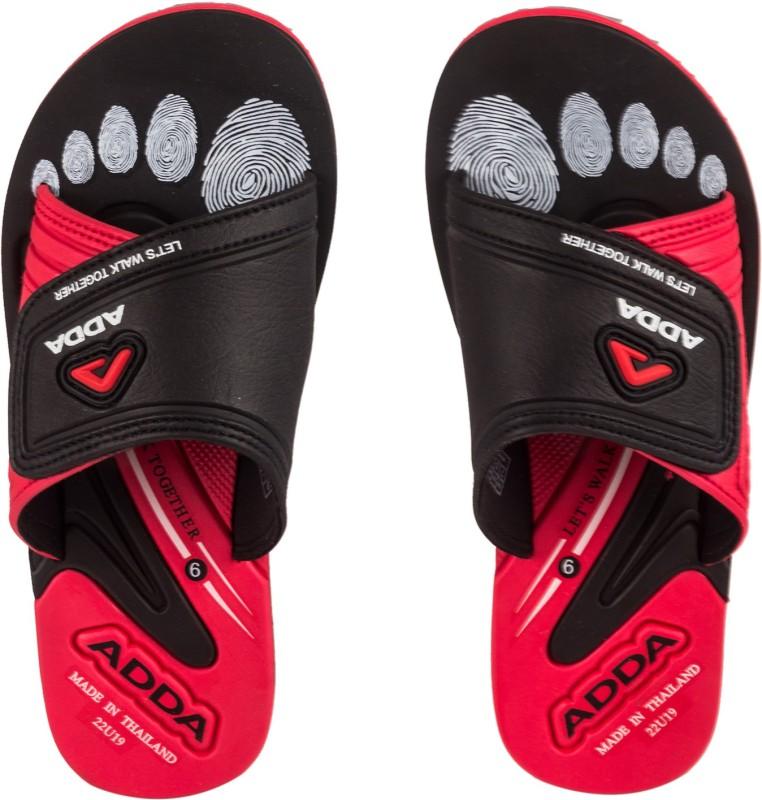 Adda Slippers(Red, Black 8)