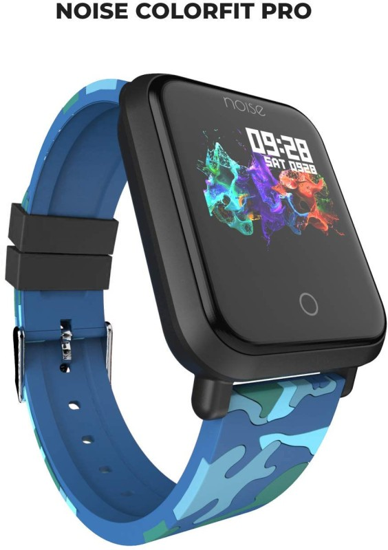 Noise Colorfit Pro Fitness Smart Band Camo-Blue Smartwatch(Blue Strap Free)