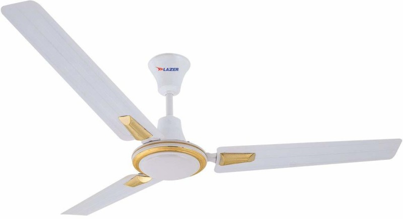 Lazer Seaira Jewel White Color (Sweep-1200 mm, 410-RPM) 3 Blade Ceiling Fan 1200 mm 3 Blade Ceiling Fan(White, Pack of 1)