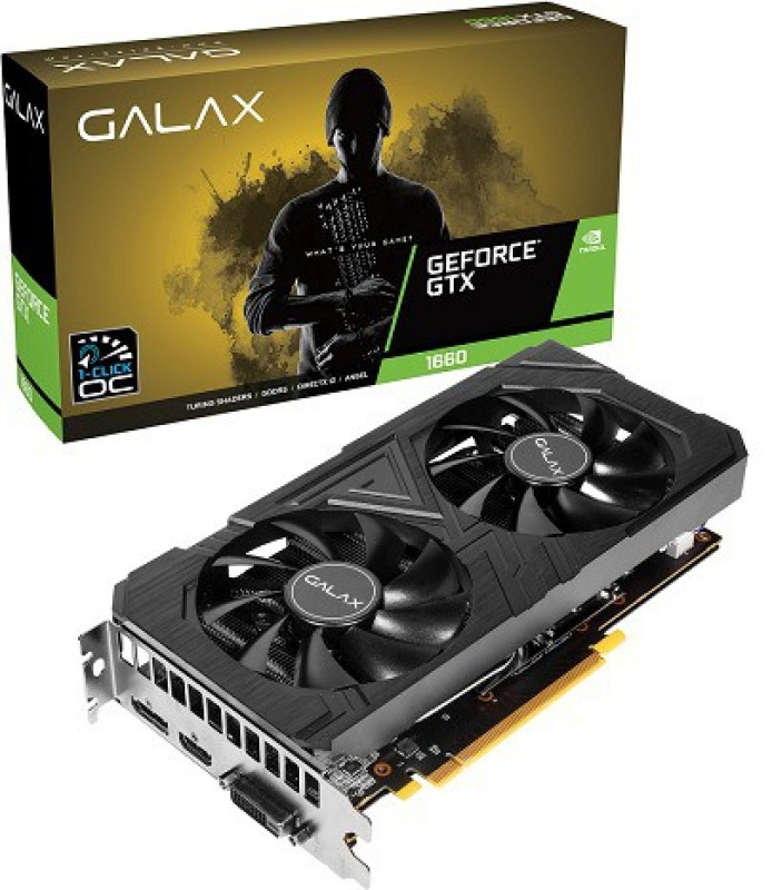 GALAX NVIDIA GeForce® GTX 1660 EX (1-Click OC) 6 GB GDDR5 Graphics Card(Black)