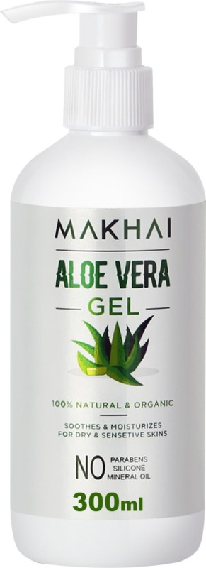 Makhai Multipurpose Aloe Vera Gel for Face , Hair and Skin Acne, Scars(300 ml)