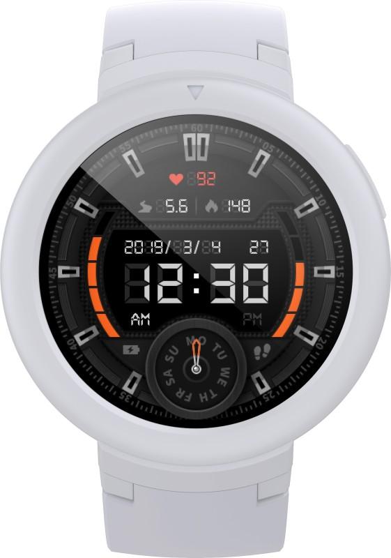 Huami Amazfit Verge Lite Snowcap White Smartwatch(White Strap Regular)