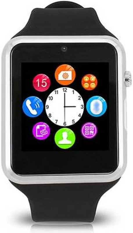 Cyxus 4G Android mobile 4G watch with pedometer Smartwatch(Black Strap, Free)