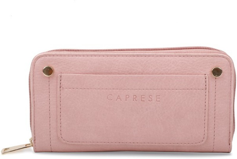 Caprese Women Pink Artificial Leather Wallet(6 Card Slots)