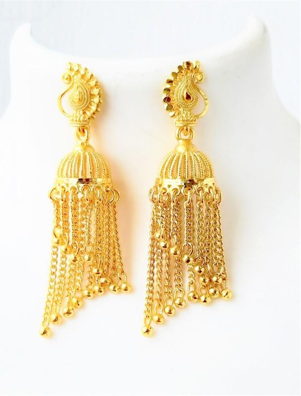 Darshini Designs One Gram Gold Plated Jhumki Earrings Set For Women Alloy Jhumki Earring
