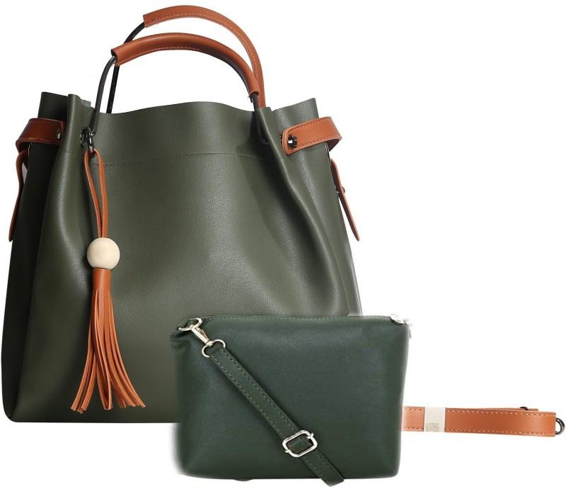 SaleBox Women Green Shoulder Bag
