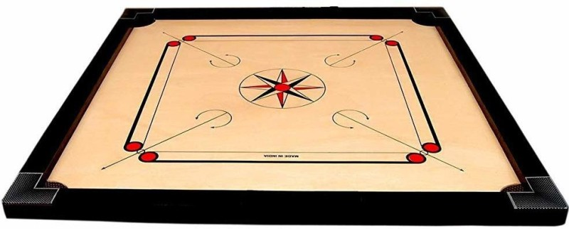 SMT® Full Size(Large) 32' Inch Matte Finish Cut Pocket Carrom Board Board Game