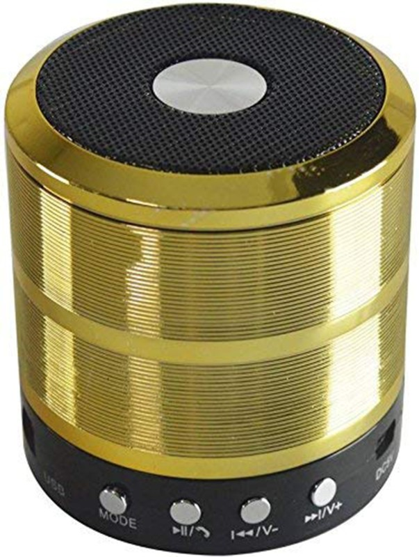 aufers WS-887 Wireless Bluetooth Speaker Good Quality Sound And Deep Bass ( Gold ) 5 W Bluetooth Speaker(Gold, Mono Channel)