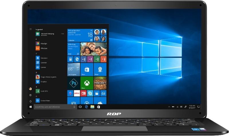 RDP ThinBook Atom Quad Core 8th Gen - (2 GB/32 GB EMMC Storage/Windows 10 Pro) 1450-ECP Thin and Light Laptop(14.1 inch, Black, 1.35 kg)