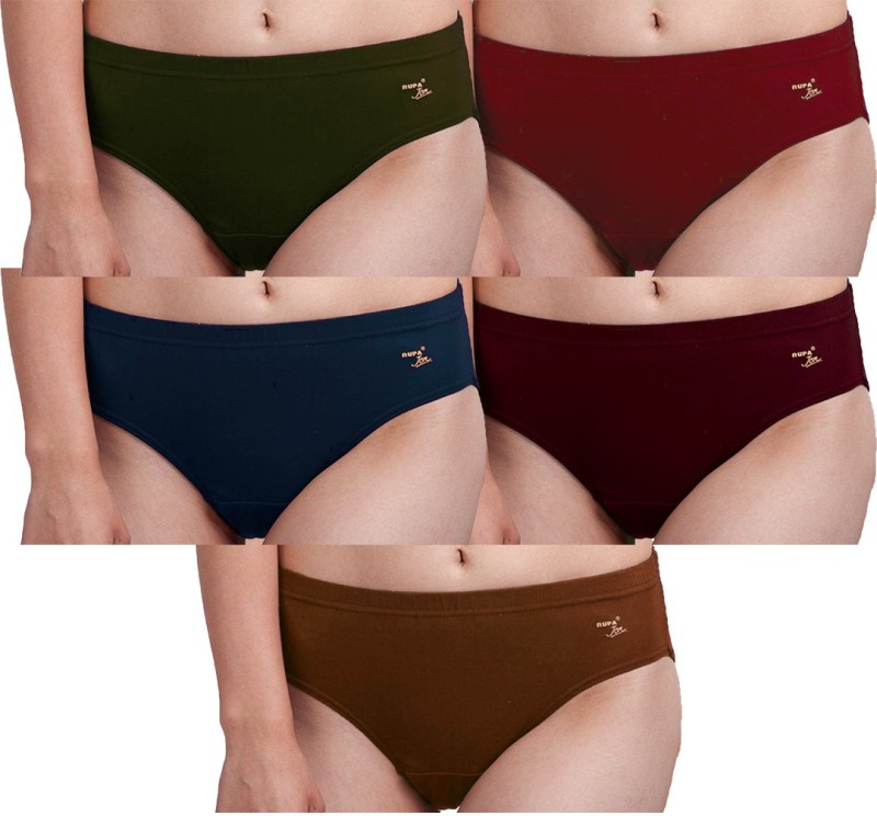 Rupa Women Hipster Multicolor Panty(Pack of 5)