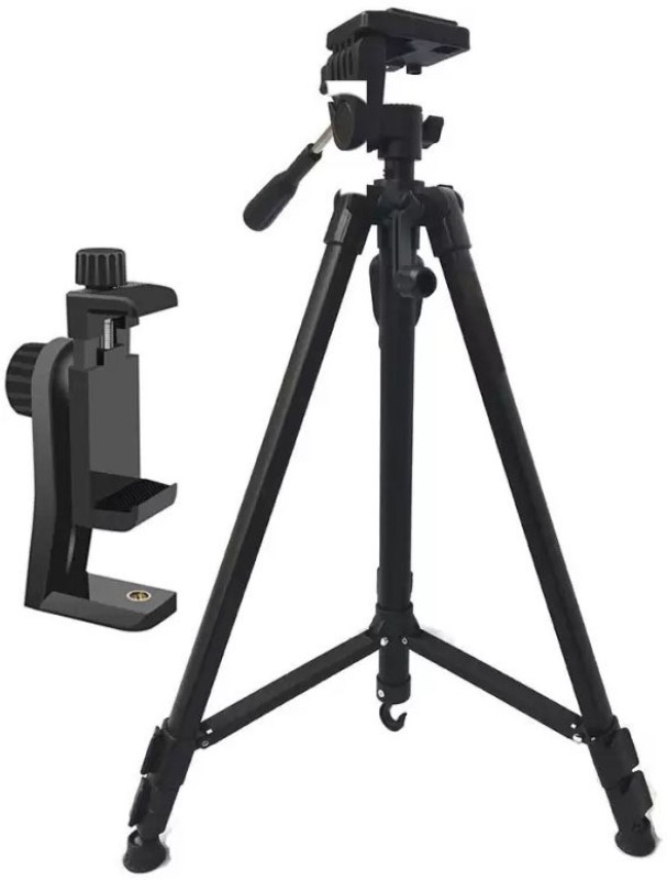 Mobhead Tripod 3388 Premium Quality Adjustable Aluminum Professional Foldable Heavy Duty Sho Tripod (Black, Supports Up to 1500 g) Tripod(Black, Supports Up to 1500 g)