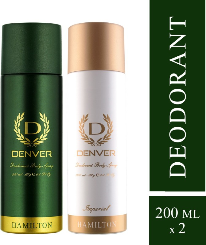 Denver Hamilton and Imperial Combo Deodorant Spray - For Men(400 ml, Pack of 2)