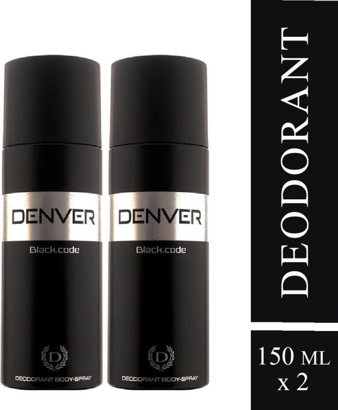 Denver Black Code Deo Combo (Pack of 2) Body Spray Deodorant Spray - For Men(300 ml, Pack of 2)