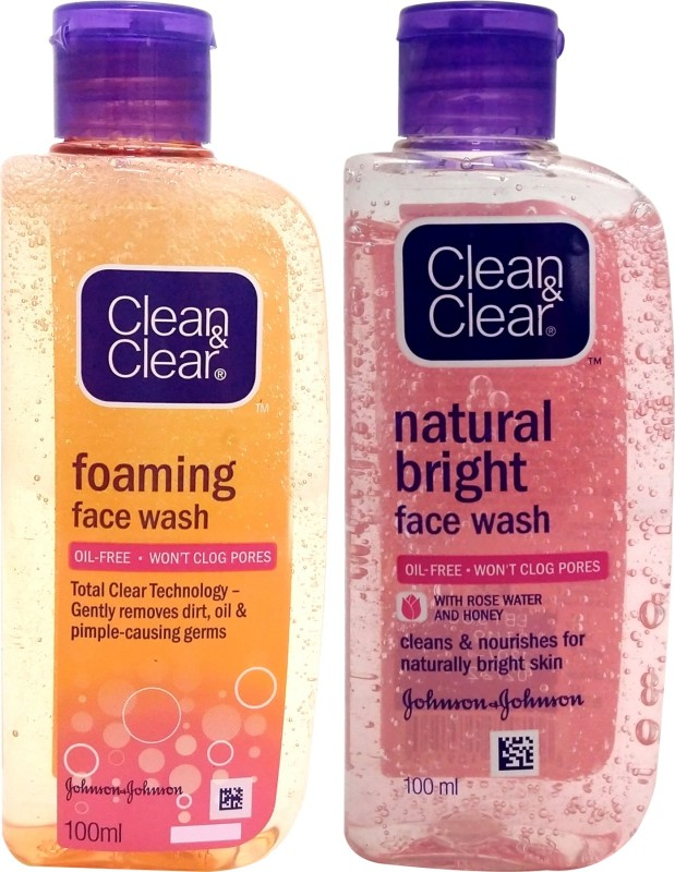 Clean & Clear Natural Bright with Foaming Face Wash(200 ml)