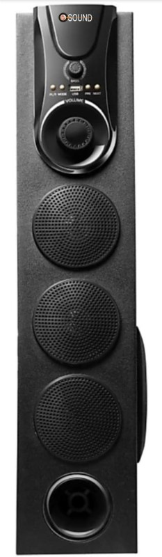 O.SOUND O-SOUND Hi Fi Dj 500 W with one 4.25 woofer and 25000 PMPO Multimedia Bluetooth Tower Speaker 2.1 Tower Speaker (bluetooth, usb, fm/am radio, aux) Bluetooth Tower Speaker(Black, 2.1 Channel)