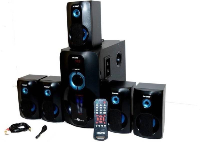 9 core HT-1007 HI BASS HOME THEATRE 5.1 Bluetooth Home Theatre(Black, 5.1 Channel)