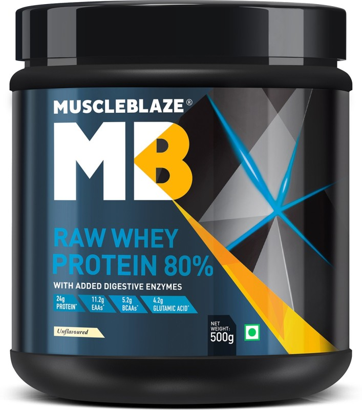 MuscleBlaze Raw Whey Protein(500 g, Unflavored)