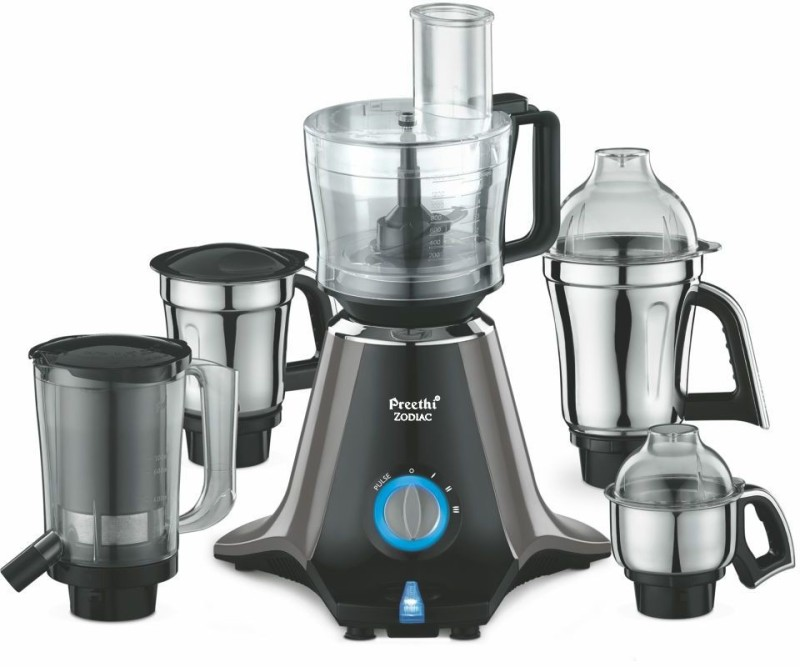 Preethi Zodiac MG-218 750 W Juicer Mixer Grinder(Black/Light Grey, 5 Jars)
