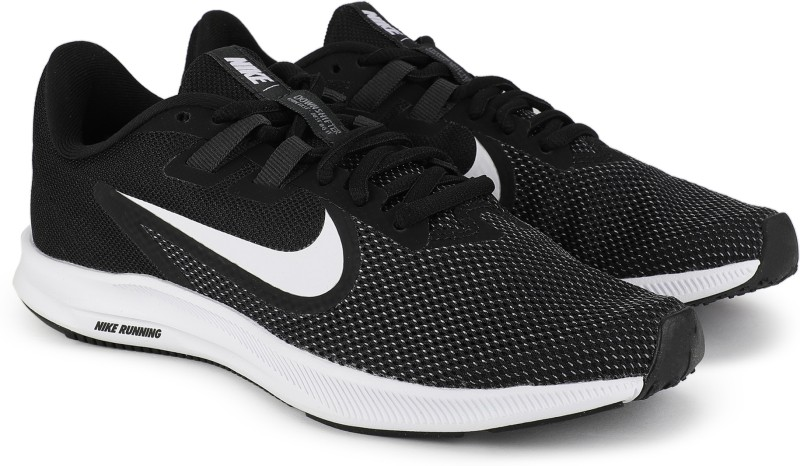 Nike Wmns Downshifter 9 Running Shoes For Women(Black, White)