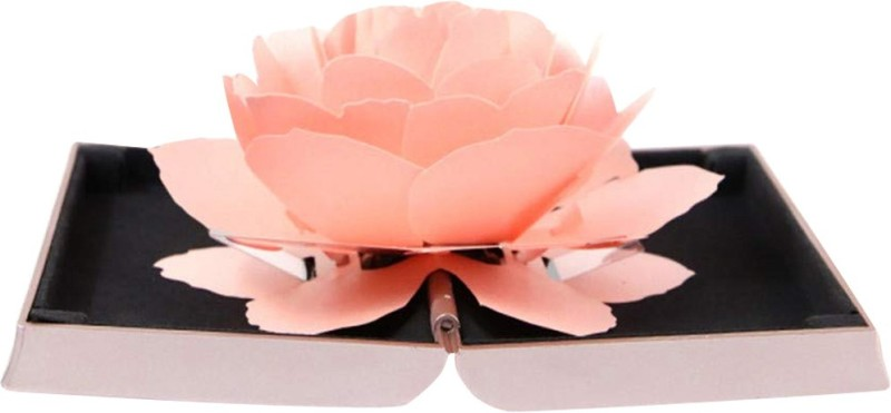 Nema Folding Rose Ring Holder Box-Pink Ring box Vanity Box(Pink)