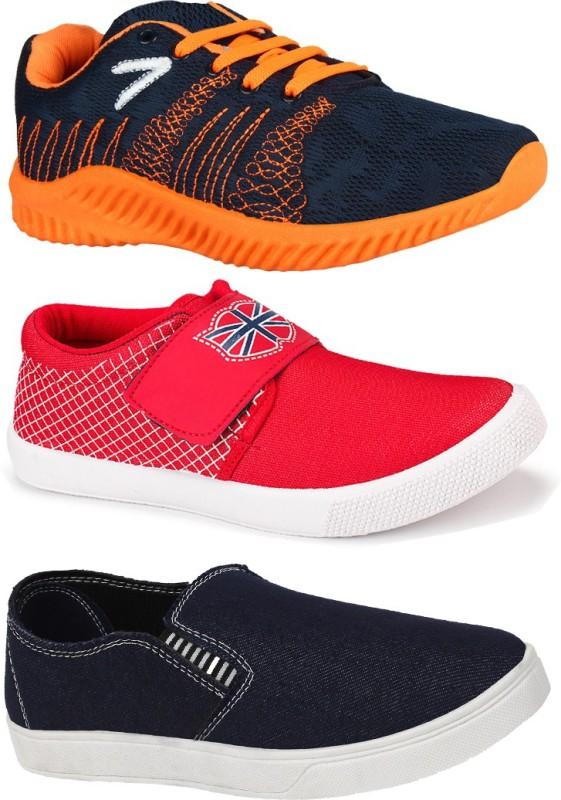 World Wear Footwear Combo Pack of 3 Top