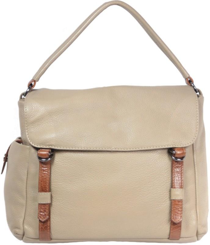 Leatherman Fashion Leather Handbag Messenger Bag(Beige, 2 L)