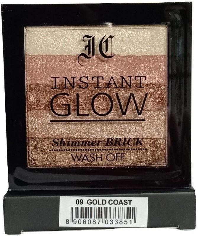 Incolor Shimmer Highlighter Brick, Gold Coast, 9gm(Gold Coast)