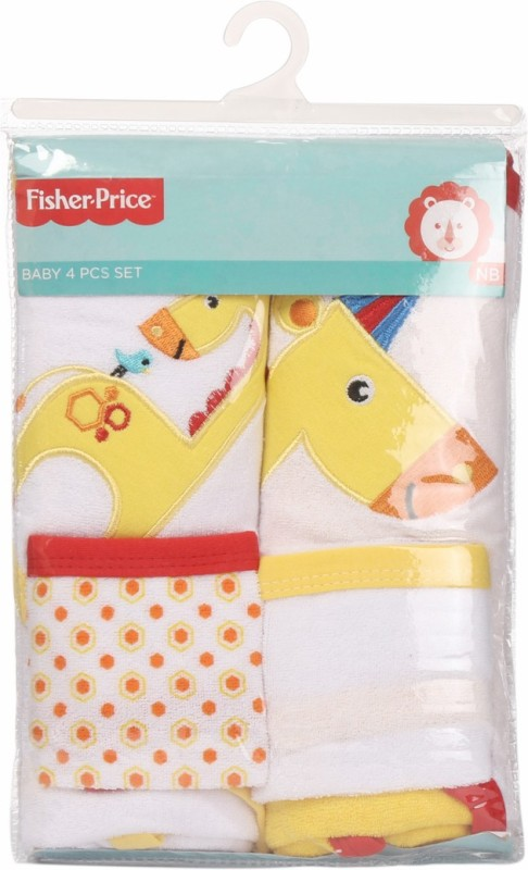 Fisher-Price Fisher Price Baby Bath Set Pack of 4 Yellow (Giraffe)(Yellow)