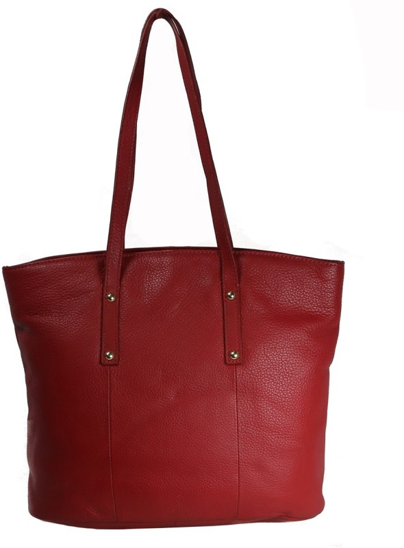 Leatherman Fashion Red Ladies Leather Tote Shoulder Bag(Red, 2 L)