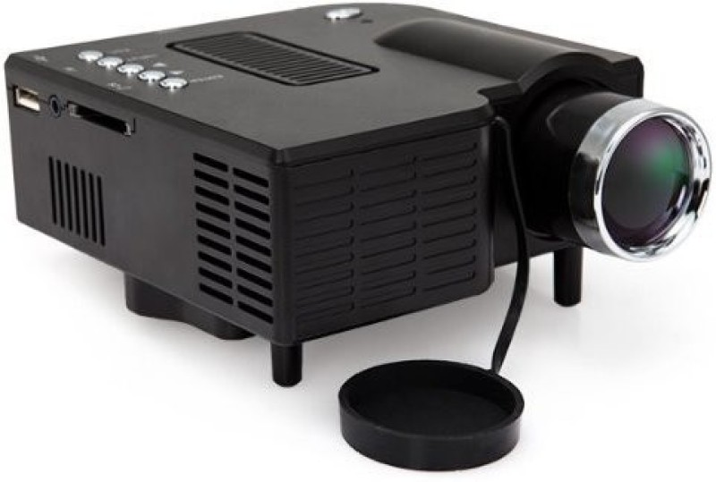 Wonder World ™ 24W Mini Multimedia LCD Image System LED with 40 lm LED Corded Portable Projector(Black)