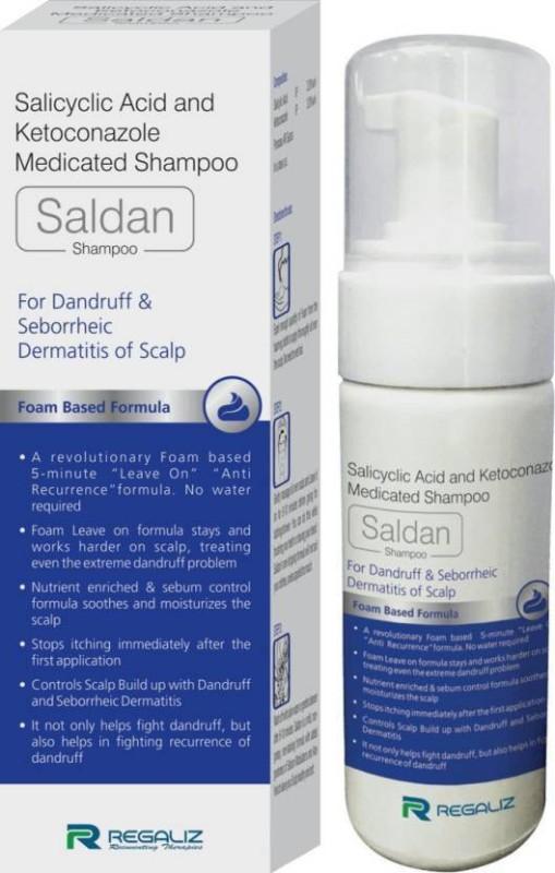 REGALIZ Saldan Shampoo For Dandruff & Seborrheic Dermatitis of scalp(100 ml)