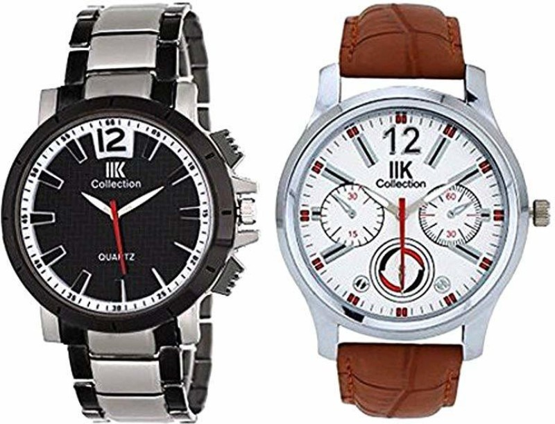 IIK Collection Combo (046M-507M) Premium Round Shaped Analog Watch - For Men