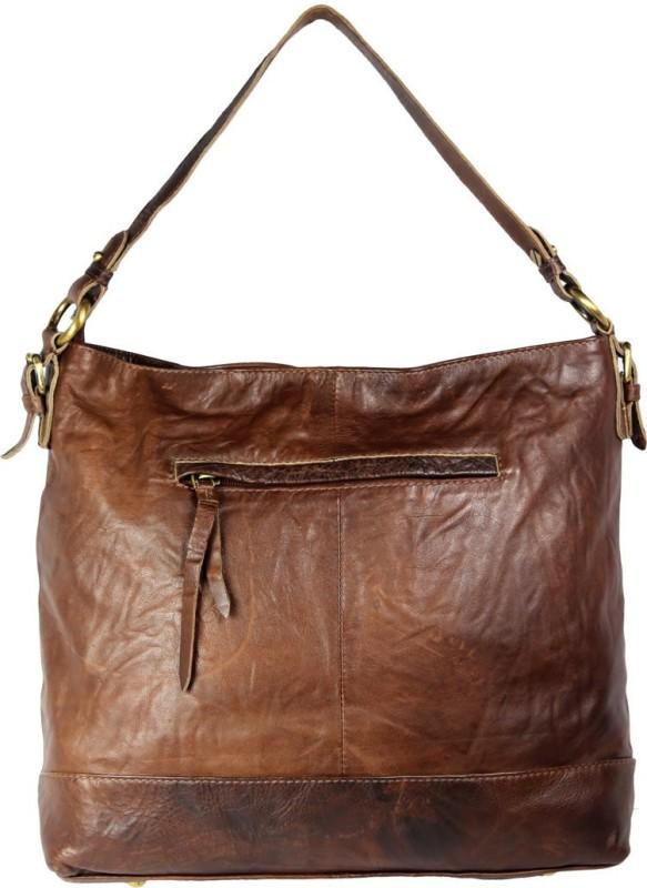 Leatherman Fashion Women's Brown Leather Hobo Bag Shoulder Bag(Brown, 2 L)