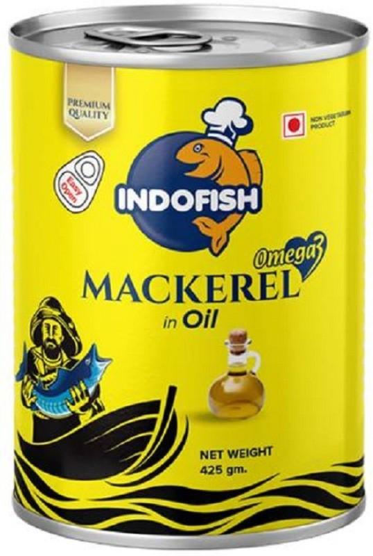 Indofish Mackerel in Oil, 425g Sea Foods(425 ml)