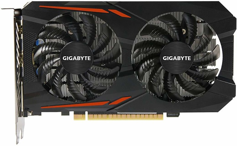 Gigabyte NVIDIA GTX 1050Ti OC 4 GB GDDR5 Graphics Card(Black)
